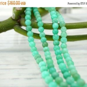 Shop Chrysoprase Round Beads! Chrysoprase 4-5mm Round Beads (etb01103) | Natural genuine round Chrysoprase beads for beading and jewelry making.  #jewelry #beads #beadedjewelry #diyjewelry #jewelrymaking #beadstore #beading #affiliate #ad