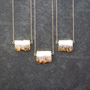 Shop Citrine Necklaces! Citrine Jewelry / Gold Citrine Necklace / Raw Citrine Necklace / Gold Citrine Crystal Necklace / Gold Citrine Jewelry / November Birthstone | Natural genuine Citrine necklaces. Buy crystal jewelry, handmade handcrafted artisan jewelry for women.  Unique handmade gift ideas. #jewelry #beadednecklaces #beadedjewelry #gift #shopping #handmadejewelry #fashion #style #product #necklaces #affiliate #ad