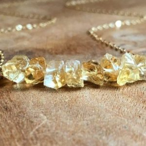 Shop Citrine Necklaces! Citrine Necklace – Raw Citrine Necklace – November Birthstone Necklace – Raw Crystal Necklace – Citrine Jewelry – Gift For Her | Natural genuine Citrine necklaces. Buy crystal jewelry, handmade handcrafted artisan jewelry for women.  Unique handmade gift ideas. #jewelry #beadednecklaces #beadedjewelry #gift #shopping #handmadejewelry #fashion #style #product #necklaces #affiliate #ad