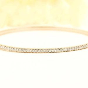 Shop Diamond Bracelets! 14k Solid Gold Bangle Diamond Bracelet / thin Prong Set Diamond Bracelet / natural Diamonds 0.58ct Dainty Bracelet / delicate Diamond Bracelet | Natural genuine Diamond bracelets. Buy crystal jewelry, handmade handcrafted artisan jewelry for women.  Unique handmade gift ideas. #jewelry #beadedbracelets #beadedjewelry #gift #shopping #handmadejewelry #fashion #style #product #bracelets #affiliate #ad
