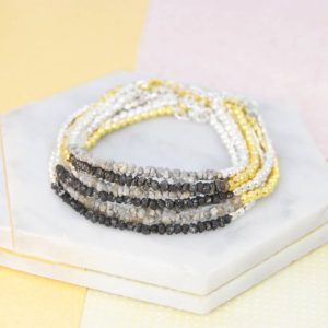 Shop Diamond Bracelets! Black Rough Diamond Bracelet-Black Diamond Friendship Bracelet-Stacking Diamond Bracelet-Raw Diamond Bracelet-Gold Friendship Bracelet | Natural genuine Diamond bracelets. Buy crystal jewelry, handmade handcrafted artisan jewelry for women.  Unique handmade gift ideas. #jewelry #beadedbracelets #beadedjewelry #gift #shopping #handmadejewelry #fashion #style #product #bracelets #affiliate #ad