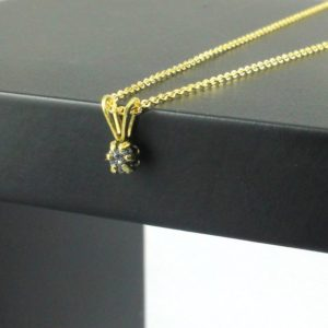 Shop Diamond Pendants! Rough Diamond Necklace – 14k Gold Filled Six Prong Pendant – Black Raw Uncut Diamond – April Birthstone | Natural genuine Diamond pendants. Buy crystal jewelry, handmade handcrafted artisan jewelry for women.  Unique handmade gift ideas. #jewelry #beadedpendants #beadedjewelry #gift #shopping #handmadejewelry #fashion #style #product #pendants #affiliate #ad