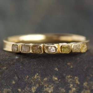 Shop Raw Diamond Engagement Rings! Raw Diamond Wedding Band. Diamond Band Ring. Diamond Band. Raw Diamond Ring. Square Diamond Ring. Yellow Diamond Ring. Yellow Diamond Ring. | Natural genuine Diamond rings, simple unique alternative gemstone engagement rings. #rings #jewelry #bridal #wedding #jewelryaccessories #engagementrings #weddingideas #affiliate #ad
