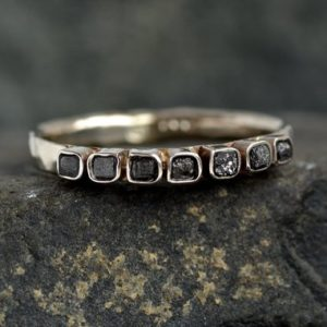 Shop Raw Diamond Engagement Rings! Raw Diamond Wedding Band. Diamond Band Ring. Diamond Band. Raw Diamond Ring. Square Diamond Ring. Black Diamond Ring. Black Diamond Ring. | Natural genuine Diamond rings, simple unique alternative gemstone engagement rings. #rings #jewelry #bridal #wedding #jewelryaccessories #engagementrings #weddingideas #affiliate #ad