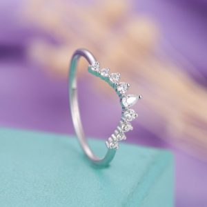 Shop Diamond Rings! Diamond wedding band, Curved wedding band Women, Pear shaped ,Chevron Matching Stacking Bridal Jewelry Anniversary | Natural genuine Diamond rings, simple unique alternative gemstone engagement rings. #rings #jewelry #bridal #wedding #jewelryaccessories #engagementrings #weddingideas #affiliate #ad