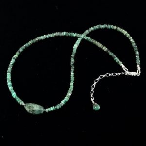 Shop Emerald Necklaces! Emerald Gemstone Necklace / Green / Emerald / Gemstone / Necklace / Spring / Jewelry | Natural genuine Emerald necklaces. Buy crystal jewelry, handmade handcrafted artisan jewelry for women.  Unique handmade gift ideas. #jewelry #beadednecklaces #beadedjewelry #gift #shopping #handmadejewelry #fashion #style #product #necklaces #affiliate #ad