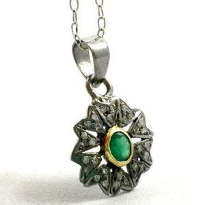 Shop Emerald Pendants! Vintage Style Emerald Pendant | Natural genuine Emerald pendants. Buy crystal jewelry, handmade handcrafted artisan jewelry for women.  Unique handmade gift ideas. #jewelry #beadedpendants #beadedjewelry #gift #shopping #handmadejewelry #fashion #style #product #pendants #affiliate #ad