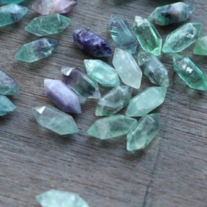 Shop Gemstone Points & Wands! Fluorite Small Double Terminated Carved Point J59 | Natural genuine stones & crystals in various shapes & sizes. Buy raw cut, tumbled, or polished gemstones for making jewelry or crystal healing energy vibration raising reiki stones. #crystals #gemstones #crystalhealing #crystalsandgemstones #energyhealing #affiliate #ad