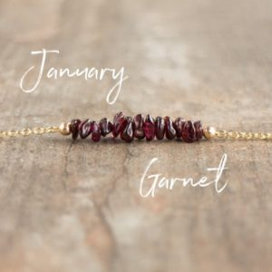 Shop Garnet Jewelry! Garnet Necklace, Raw Stone Necklace, January Birthstone Jewelry Gift For Women, Layering Choker Necklace | Natural genuine Garnet jewelry. Buy crystal jewelry, handmade handcrafted artisan jewelry for women.  Unique handmade gift ideas. #jewelry #beadedjewelry #beadedjewelry #gift #shopping #handmadejewelry #fashion #style #product #jewelry #affiliate #ad