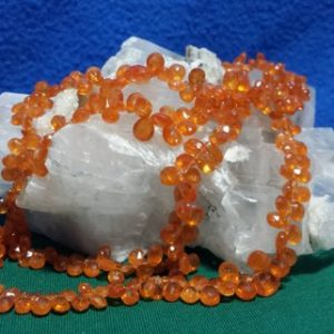 Shop Garnet Bead Shapes! Spessartite Garnet Graduating Faceted Flat Drop Beads Four 8 In. Strands, Rich Gorgeous Color, Mandarin Orange Spessartite Garnet, Gemstone | Natural genuine other-shape Garnet beads for beading and jewelry making.  #jewelry #beads #beadedjewelry #diyjewelry #jewelrymaking #beadstore #beading #affiliate #ad