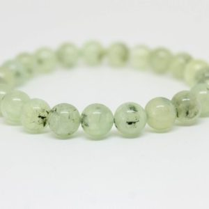 Shop Prehnite Jewelry! Green Prehnite Bracelet 8mm Phrenite Gemstone Bracelet Green Bracelet Womens Bracelet Black Tourmaline Bracelet Tourmalinated Bracelet | Natural genuine Prehnite jewelry. Buy crystal jewelry, handmade handcrafted artisan jewelry for women.  Unique handmade gift ideas. #jewelry #beadedjewelry #beadedjewelry #gift #shopping #handmadejewelry #fashion #style #product #jewelry #affiliate #ad