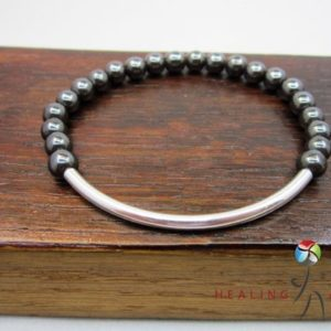 Shop Hematite Bracelets! Hematite Silver Tube Bracelet Base Chakra Hematite Mala Protection Hematite Bracelet Healing Chakra Bracelet Hematite Confidence Bracelet | Natural genuine Hematite bracelets. Buy crystal jewelry, handmade handcrafted artisan jewelry for women.  Unique handmade gift ideas. #jewelry #beadedbracelets #beadedjewelry #gift #shopping #handmadejewelry #fashion #style #product #bracelets #affiliate #ad
