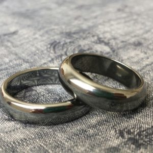 Hematite Ring band Buy2+1free Unusual silver-black.Men.Women 6mm wide half round  Size 5,6,6.25,5.75,8,9,9.25,9.5,10,10.25,11.25,11.75,12 | Natural genuine Hematite rings, simple unique handcrafted gemstone rings. #rings #jewelry #shopping #gift #handmade #fashion #style #affiliate #ad