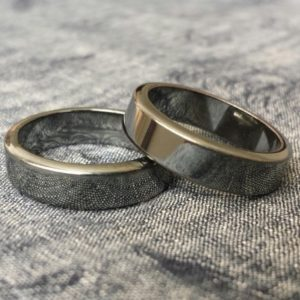 Hematite Ring.Unusual silver-black.Buy 2+1 fee Men,Women 6mm wide flat band Size 5.5,6,6.25,6.5,7,7.5,7.75,8,8.25,8.5,8.75,9,9.5,10,11,12,13 | Natural genuine Hematite rings, simple unique handcrafted gemstone rings. #rings #jewelry #shopping #gift #handmade #fashion #style #affiliate #ad