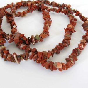 Shop Jasper Chip Beads! Brecciated Jasper Beads, Chip Jasper Beads, Long Strand, Red Jasper, 34 Inch Strand, Jas228 | Natural genuine chip Jasper beads for beading and jewelry making.  #jewelry #beads #beadedjewelry #diyjewelry #jewelrymaking #beadstore #beading #affiliate