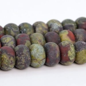 Shop Jasper Rondelle Beads! Matte Dragon Blood Jasper Beads Grade AAA Genuine Natural Gemstone Rondelle Loose Beads 6x4MM 8x5MM Bulk Lot Options | Natural genuine rondelle Jasper beads for beading and jewelry making.  #jewelry #beads #beadedjewelry #diyjewelry #jewelrymaking #beadstore #beading #affiliate #ad