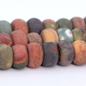 Shop Jasper Rondelle Beads! Matte Picasso Jasper Beads Grade AAA Genuine Natural Gemstone Rondelle Loose Beads 6x4MM 8x4MM Bulk Lot Options | Natural genuine rondelle Jasper beads for beading and jewelry making.  #jewelry #beads #beadedjewelry #diyjewelry #jewelrymaking #beadstore #beading #affiliate #ad