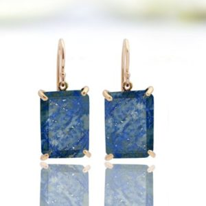 Shop Lapis Lazuli Earrings! 14k rose gold earrings,Lapis lazuli earrings,Lapis earrings,rose gold jewelry,rose gold stone earrings | Natural genuine Lapis Lazuli earrings. Buy crystal jewelry, handmade handcrafted artisan jewelry for women.  Unique handmade gift ideas. #jewelry #beadedearrings #beadedjewelry #gift #shopping #handmadejewelry #fashion #style #product #earrings #affiliate #ad