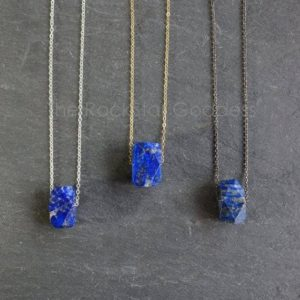 Lapis Lazuli Necklace / Lapis Lazuli  / Lapis Lazuli  Pendant / Blue Lapis / Lapis Necklace / Lapis Jewelry | Natural genuine Lapis Lazuli jewelry. Buy crystal jewelry, handmade handcrafted artisan jewelry for women.  Unique handmade gift ideas. #jewelry #beadedjewelry #beadedjewelry #gift #shopping #handmadejewelry #fashion #style #product #jewelry #affiliate #ad