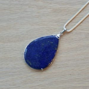 Shop Lapis Lazuli Pendants! Lapis Lazuli Teardrop Pendant / / Lapis And Silver Teardrop Pendant / / Lapis Lazuli / / Lapis Lazuli Necklace / / Lapis / / Lapiz Silver | Natural genuine Lapis Lazuli pendants. Buy crystal jewelry, handmade handcrafted artisan jewelry for women.  Unique handmade gift ideas. #jewelry #beadedpendants #beadedjewelry #gift #shopping #handmadejewelry #fashion #style #product #pendants #affiliate #ad