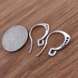 Shop Ear Wires & Posts for Making Earrings! Luxury Sterling Silver Hooks Earrings Ear wires Findings Dangle Dangling Hook Earrings Open Ring High Quality | Shop jewelry making and beading supplies, tools & findings for DIY jewelry making and crafts. #jewelrymaking #diyjewelry #jewelrycrafts #jewelrysupplies #beading #affiliate #ad
