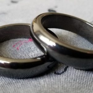 MAGNETIC Hematite Ring band Buy2+1free Unusual silver-black.Men.Women 6mm half round Size 5,6,6.25,5.75,8,9,9.25,9.5,10,10.25,11.25,11.75,12 | Natural genuine Hematite rings, simple unique handcrafted gemstone rings. #rings #jewelry #shopping #gift #handmade #fashion #style #affiliate #ad