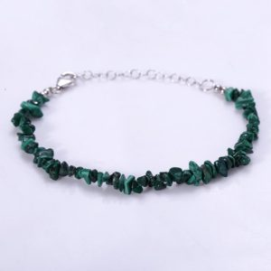 Malachite Bracelet Gift For Her Malachite Chips Bracelet Gemstone Bracelet Crystal Bracelet Christmas Gift Birthday Gift Wedding Gift | Natural genuine Gemstone bracelets. Buy handcrafted artisan wedding jewelry.  Unique handmade bridal jewelry gift ideas. #jewelry #beadedbracelets #gift #crystaljewelry #shopping #handmadejewelry #wedding #bridal #bracelets #affiliate #ad