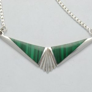 Shop Malachite Necklaces! Malachite necklace – green necklace – geometric necklace – vintage necklace | Natural genuine Malachite necklaces. Buy crystal jewelry, handmade handcrafted artisan jewelry for women.  Unique handmade gift ideas. #jewelry #beadednecklaces #beadedjewelry #gift #shopping #handmadejewelry #fashion #style #product #necklaces #affiliate #ad