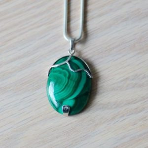 Shop Malachite Pendants! Malachite Pendant / / Malachite / / Malachite Necklace / / Sterling Silver / / Green Pendant / / Green Necklace / / Teardrop Pendant | Natural genuine Malachite pendants. Buy crystal jewelry, handmade handcrafted artisan jewelry for women.  Unique handmade gift ideas. #jewelry #beadedpendants #beadedjewelry #gift #shopping #handmadejewelry #fashion #style #product #pendants #affiliate #ad