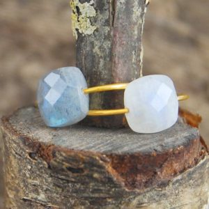 Cocktail Ring, Moonstone Ring, Gold Gemstone Ring, Unique Engagement Ring, Natural Stone Ring, Designer Gemstone Ring, Semi Precious Ring | Natural genuine Array jewelry. Buy handcrafted artisan wedding jewelry.  Unique handmade bridal jewelry gift ideas. #jewelry #beadedjewelry #gift #crystaljewelry #shopping #handmadejewelry #wedding #bridal #jewelry #affiliate #ad