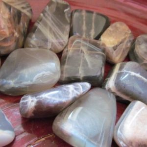 Shop Moonstone Gemstones! Black Moonstone Medium Tumbled Stone T61 | Natural genuine gemstones & crystals in various shapes & sizes. Buy raw cut, tumbled, or polished for making jewelry or crystal healing energy reiki stones. #crystals #gemstones #crystalhealing #crystalsandgemstones #energyhealing #affiliate