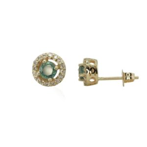 Shop Alexandrite Jewelry! Natural Alexandrite and Diamond Halo Earrings – June Birthstone – Pushback posts – LS1468 | Natural genuine gemstone jewelry in modern, chic, boho, elegant styles. Buy crystal handmade handcrafted artisan art jewelry & accessories. #jewelry #beaded #beadedjewelry #product #gifts #shopping #style #fashion #product