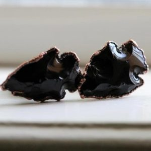 Crystal Cuff Links – Black Obsidian Cufflinks – Groomsmen Gift | Natural genuine Gemstone bracelets. Buy crystal jewelry, handmade handcrafted artisan jewelry for women.  Unique handmade gift ideas. #jewelry #beadedbracelets #beadedjewelry #gift #shopping #handmadejewelry #fashion #style #product #bracelets #affiliate #ad