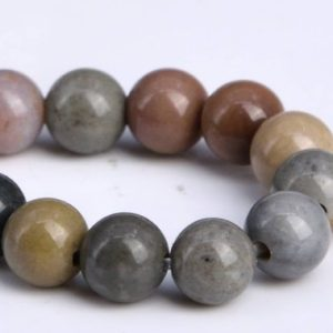"Shop Ocean Jasper Round Beads! 4MM Ocean Jasper Beads Grade AAA Genuine Natural Gemstone Half Strand Round Loose Beads 7.5"" BULK LOT 1,3,5,10 and 50 (104278h-1190) 