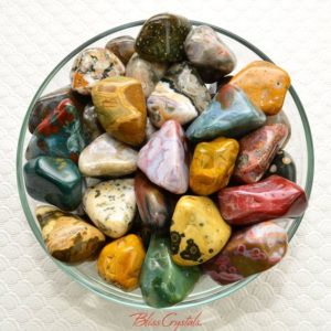 2 Large OCEAN JASPER Tumbled Stone aka Sea Stone #SJ04 | Natural genuine stones & crystals in various shapes & sizes. Buy raw cut, tumbled, or polished gemstones for making jewelry or crystal healing energy vibration raising reiki stones. #crystals #gemstones #crystalhealing #crystalsandgemstones #energyhealing #affiliate #ad