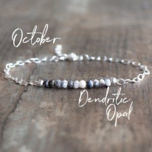 Shop Opal Bracelets! Dendritic Opal Bracelet, Gemstone Bracelet Gifts for Her | Natural genuine Opal bracelets. Buy crystal jewelry, handmade handcrafted artisan jewelry for women.  Unique handmade gift ideas. #jewelry #beadedbracelets #beadedjewelry #gift #shopping #handmadejewelry #fashion #style #product #bracelets #affiliate #ad