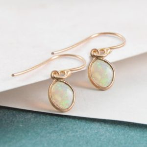 Shop Opal Earrings! Ethiopian Opal, Rose Gold Earrings, Drop Earrings, Welo Opal Earrings, Gifts For Friends, Birthday Gifts, Geometric Earrings, Embers Jewelry | Natural genuine Opal earrings. Buy crystal jewelry, handmade handcrafted artisan jewelry for women.  Unique handmade gift ideas. #jewelry #beadedearrings #beadedjewelry #gift #shopping #handmadejewelry #fashion #style #product #earrings #affiliate #ad