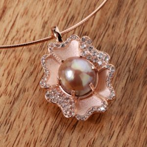 Shop Pearl Pendants! South Sea Pearl Pendant,Pendant With Omega Sterling Silver Rose Gold Filled Chain,Party wear pendant,Wedding Gift for Bride, Pearl Pendant | Natural genuine Pearl pendants. Buy handcrafted artisan wedding jewelry.  Unique handmade bridal jewelry gift ideas. #jewelry #beadedpendants #gift #crystaljewelry #shopping #handmadejewelry #wedding #bridal #pendants #affiliate #ad