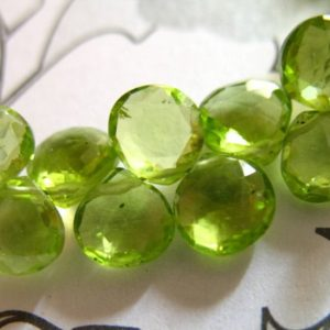 Shop Peridot Bead Shapes! 5-20 pcs, PERIDOT Heart Briolettes Beads, 6-6.5mm, Luxe AAA, Granny Apple Green, petite dainty tiny August birthstone gemstone 67 | Natural genuine other-shape Peridot beads for beading and jewelry making.  #jewelry #beads #beadedjewelry #diyjewelry #jewelrymaking #beadstore #beading #affiliate