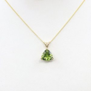 Shop Peridot Pendants! 3.2 Ct Natural Peridot Necklace.10mm AAA Trillion Peridot Necklace.Women's Necklace.Trillion Pendant Necklace.Peridot Solitaire Necklace. | Natural genuine Peridot pendants. Buy crystal jewelry, handmade handcrafted artisan jewelry for women.  Unique handmade gift ideas. #jewelry #beadedpendants #beadedjewelry #gift #shopping #handmadejewelry #fashion #style #product #pendants #affiliate #ad