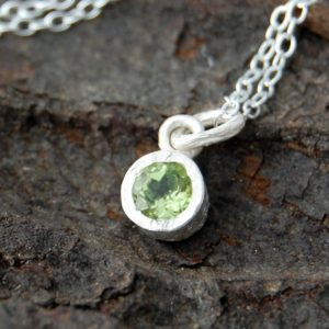 Peridot Pendant, Sterling Silver Necklace, Silver Pendant, Gemstone, Necklace, Dainty Necklace, Simple Necklace, Cute Necklace, Green Stone | Natural genuine Peridot pendants. Buy crystal jewelry, handmade handcrafted artisan jewelry for women.  Unique handmade gift ideas. #jewelry #beadedpendants #beadedjewelry #gift #shopping #handmadejewelry #fashion #style #product #pendants #affiliate #ad