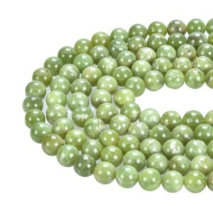 Shop Peridot Round Beads! Gorgeous Smooth Peridot Natural Gemstone Round Loose Beads Size 6mm / 8mm / 10mm Approx 15.5 Inches Per Strand | Natural genuine round Peridot beads for beading and jewelry making.  #jewelry #beads #beadedjewelry #diyjewelry #jewelrymaking #beadstore #beading #affiliate #ad