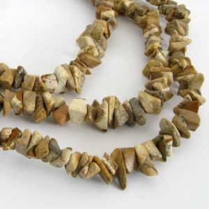 Shop Jasper Chip & Nugget Beads! Picture Jasper Beads, Chip Jasper Beads, Long Strand, Scenic Jasper, 34 Inch Strand, Landscape Jasper, Earth Tones, Jas215 | Natural genuine chip Jasper beads for beading and jewelry making.  #jewelry #beads #beadedjewelry #diyjewelry #jewelrymaking #beadstore #beading #affiliate #ad