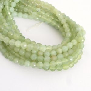 "Shop Prehnite Faceted Beads! 6mm Faceted Prehnite Beads, Full Strand Faceted Round Gemstone Beads, 15"" Strand 6mm Round Beads, Faceted Beads, Pre200 