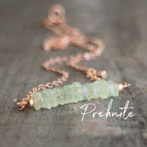 Shop Prehnite Necklaces! Prehnite Necklace, Square Bar Necklace, Healing Crystal Necklace, Wife Gift for Her, Prehnite Jewelry, Gemstone Jewelry, Bohemian Jewelry | Natural genuine Prehnite necklaces. Buy crystal jewelry, handmade handcrafted artisan jewelry for women.  Unique handmade gift ideas. #jewelry #beadednecklaces #beadedjewelry #gift #shopping #handmadejewelry #fashion #style #product #necklaces #affiliate #ad