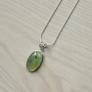 Shop Prehnite Pendants! Prehnite Pendant / / Prehnite Necklace / / Green Prehnite Pendant / / Prehnite / / Prehnite Stone / / Sterling Silver / / Green Gooseberry | Natural genuine Prehnite pendants. Buy crystal jewelry, handmade handcrafted artisan jewelry for women.  Unique handmade gift ideas. #jewelry #beadedpendants #beadedjewelry #gift #shopping #handmadejewelry #fashion #style #product #pendants #affiliate #ad