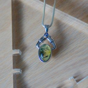 Shop Prehnite Pendants! Oval Prehnite Pendant / / Prehnite Necklace / / Prehnite And Epidote Pendant / / Prehnite Stone / / Prehnite Jewelry / / Green Prehnite | Natural genuine Prehnite pendants. Buy crystal jewelry, handmade handcrafted artisan jewelry for women.  Unique handmade gift ideas. #jewelry #beadedpendants #beadedjewelry #gift #shopping #handmadejewelry #fashion #style #product #pendants #affiliate #ad