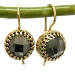 Shop Pyrite Jewelry! pyrite earrings,gold earrings,gemstone earrings,gold dangle earrings,bridesmaid gifts,wedding earrings | Natural genuine Pyrite jewelry. Buy handcrafted artisan wedding jewelry.  Unique handmade bridal jewelry gift ideas. #jewelry #beadedjewelry #gift #crystaljewelry #shopping #handmadejewelry #wedding #bridal #jewelry #affiliate #ad