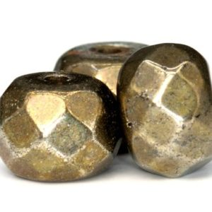 Shop Pyrite Faceted Beads! 190 / 94 Pcs – 3x2MM Copper Pyrite Beads Grade AAA Faceted Rondelle Genuine Natural Gemstone Loose Beads (102318-500) | Natural genuine faceted Pyrite beads for beading and jewelry making.  #jewelry #beads #beadedjewelry #diyjewelry #jewelrymaking #beadstore #beading #affiliate #ad