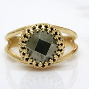 Shop Pyrite Jewelry! Pyrite ring,delicate ring,gemstone ring,faceted pyrite jewelry,bridesmaid rings,gold ring | Natural genuine Pyrite jewelry. Buy crystal jewelry, handmade handcrafted artisan jewelry for women.  Unique handmade gift ideas. #jewelry #beadedjewelry #beadedjewelry #gift #shopping #handmadejewelry #fashion #style #product #jewelry #affiliate #ad